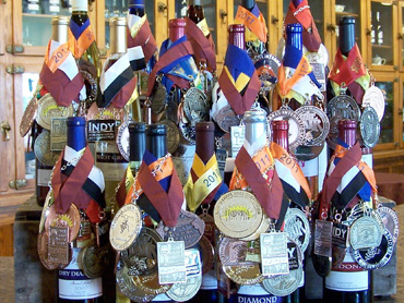 Wines adorned with medals